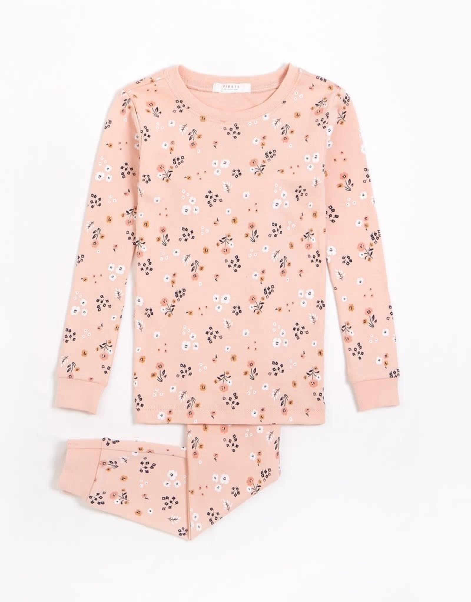 Petit Lem Petit Lem Toddler 2pc Pj Set L/S Top + Pants Pink Farmland Floral Pink