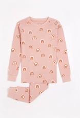 Petit Lem Petit Lem Toddler 2pc Pj Set L/S Top + Pants Pink Rainbows