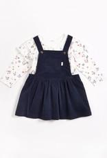 Petit Lem Petit Lem Baby L/S Top + Overalls Navy & Floral