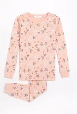 Petit Lem Petit Lem Big Girl 2pc Pj Set L/S + Pant Farmland Floral Pink