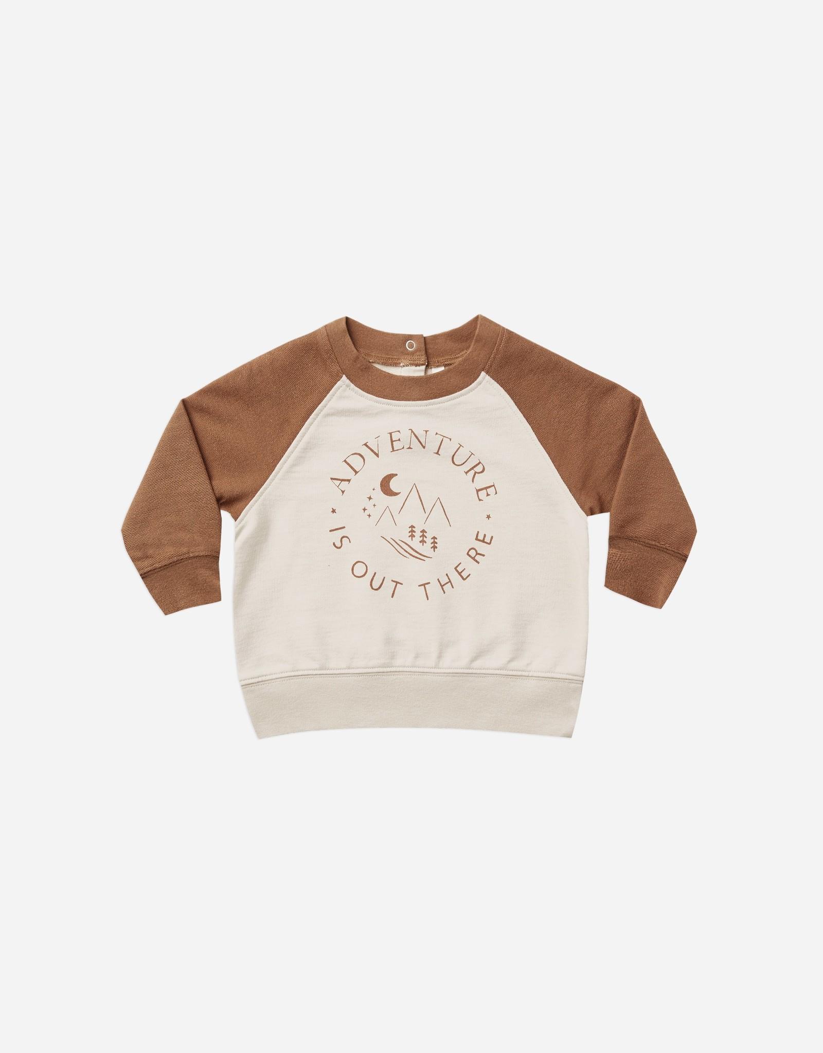 Rylee & Cru Rylee & Cru Adventure Is Out There Raglan Sweatshirt