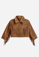 Rylee & Cru Rylee & Cru Fringe Jacket Rust