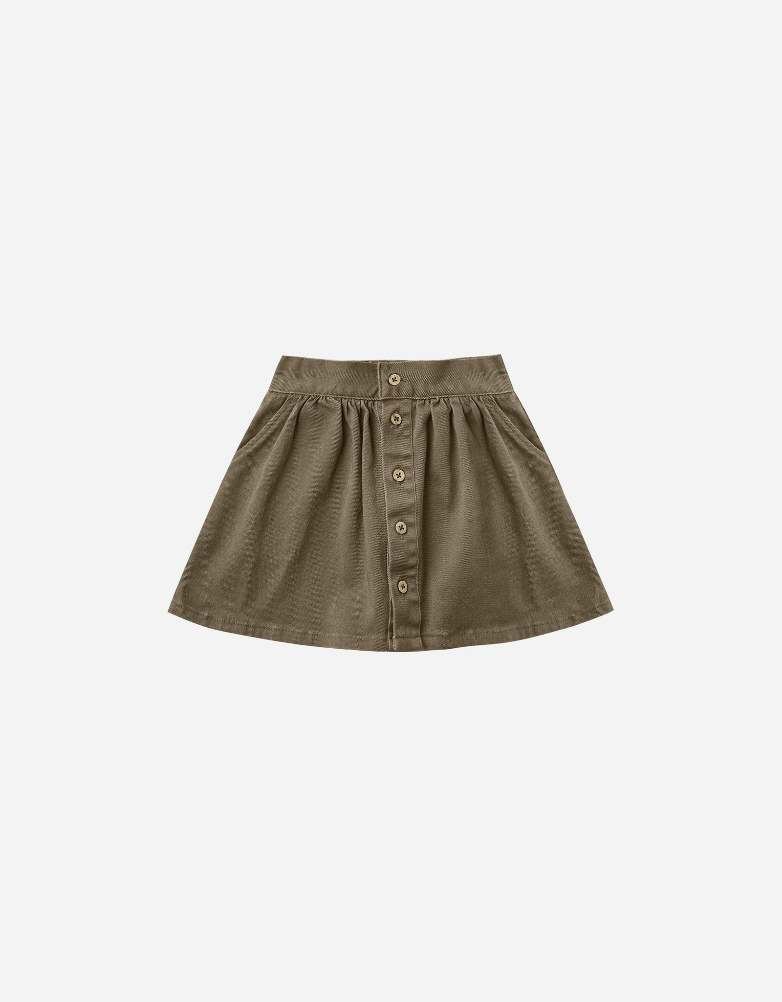 Rylee & Cru Rylee & Cru Button Front Mini Skirt Olive