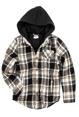 Appaman Appaman Glen Hooded Shirt Black/Tan Check