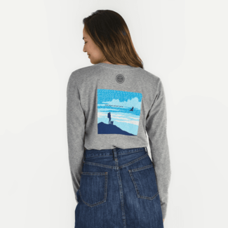 Women's Positive Words Female Hiker Crusher Long Sleeve