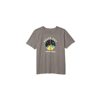 Life is Good Boys Peace Out Camp Cool Tee