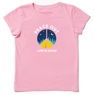 Life is Good Girls Peace Out Camp Crusher Tee