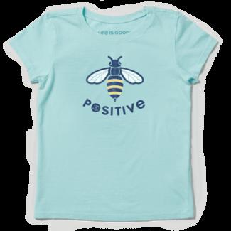 Life is Good Girls Bee Positive Crusher Tee