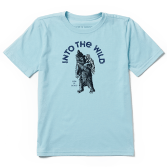 Life is Good Into the Wild Bear Cool Tee