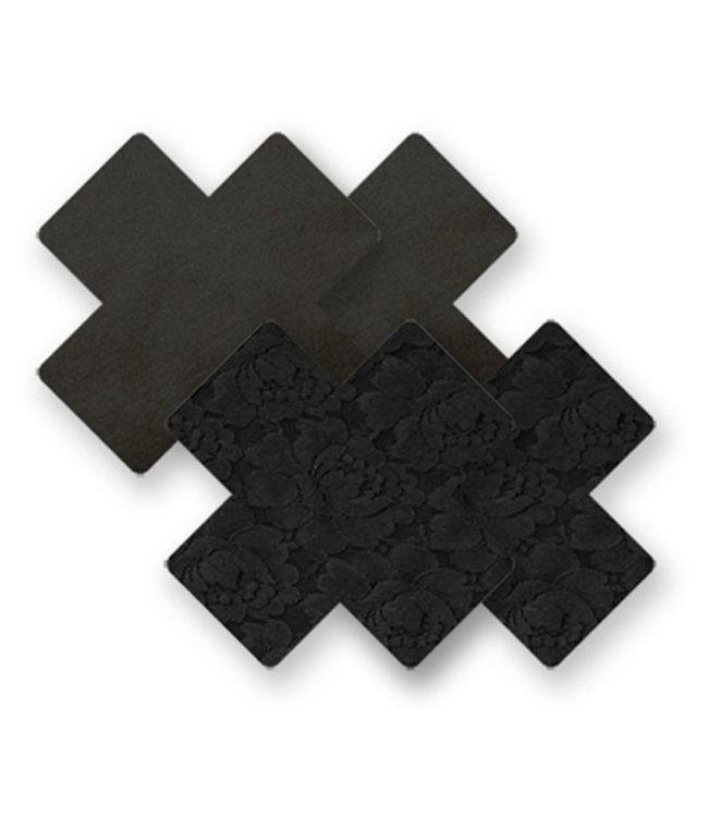 Nippies Nippies Black Cross Nipple Covers