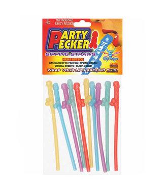 Multicolor Party Pecker Straws