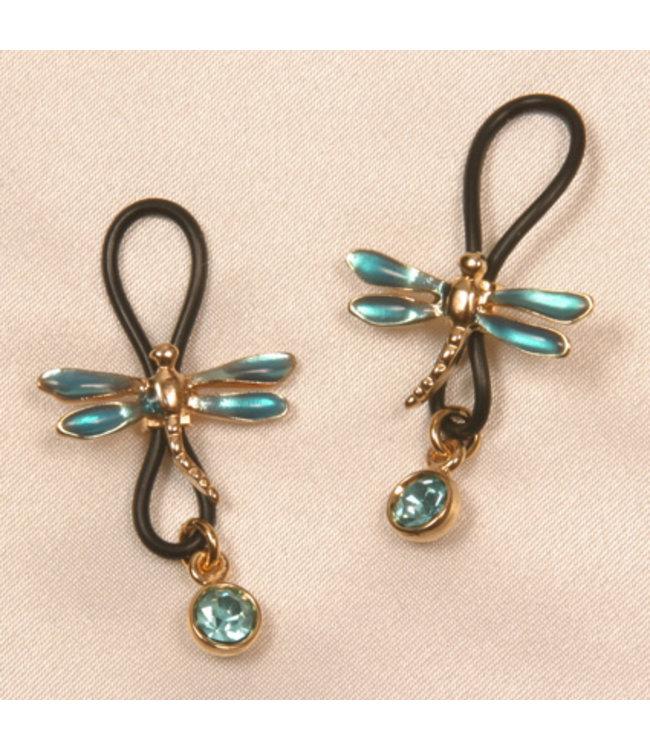 Sylvie Monthule Libellules Nipple Jewels with Blue Gem