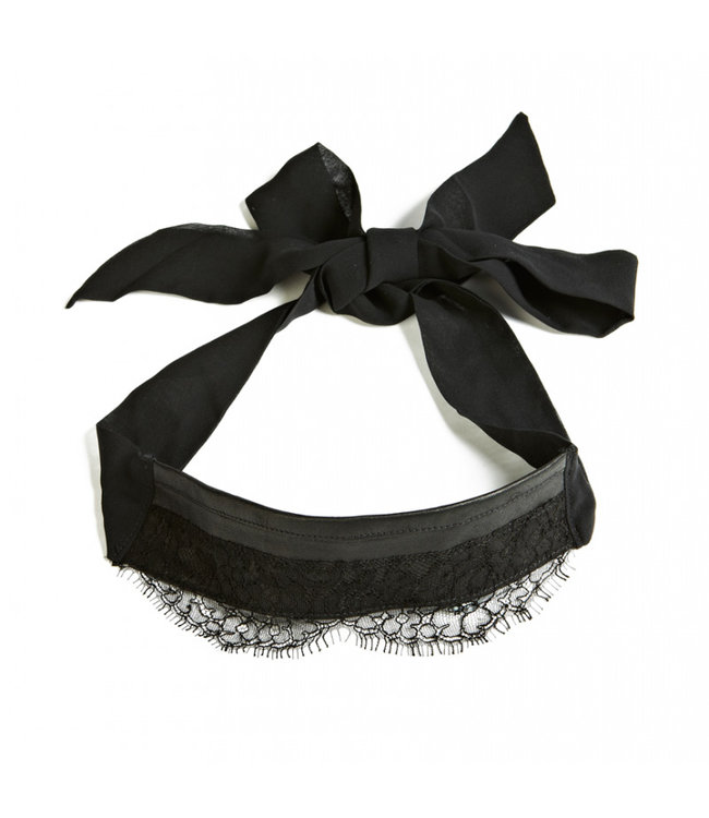 Something Wicked Supple Leather & Silk Blindfold