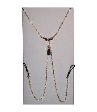 Sylvie Monthule Parure d' Eve Perle Hematite Necklace Nipple Jewellry