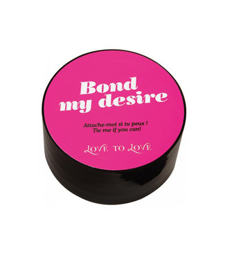 Bond My Desire Black Bondage Tape