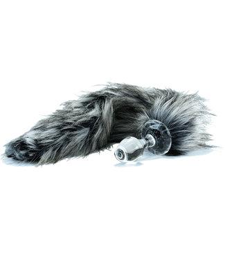 Crystal Delights Tundra Wolf Tail Plug