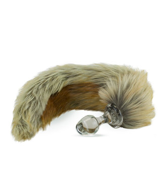 Crystal Delights Red Fox Tail Plug