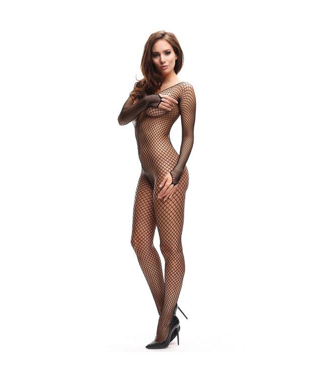 Miss O Fishnet Open Crotch Bodystocking