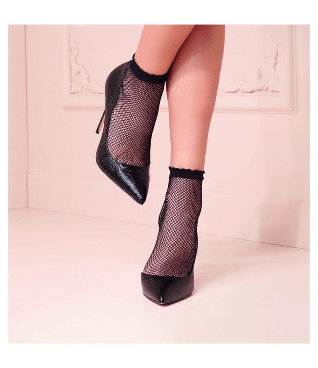 Idra Ankle High Fishnet Socks