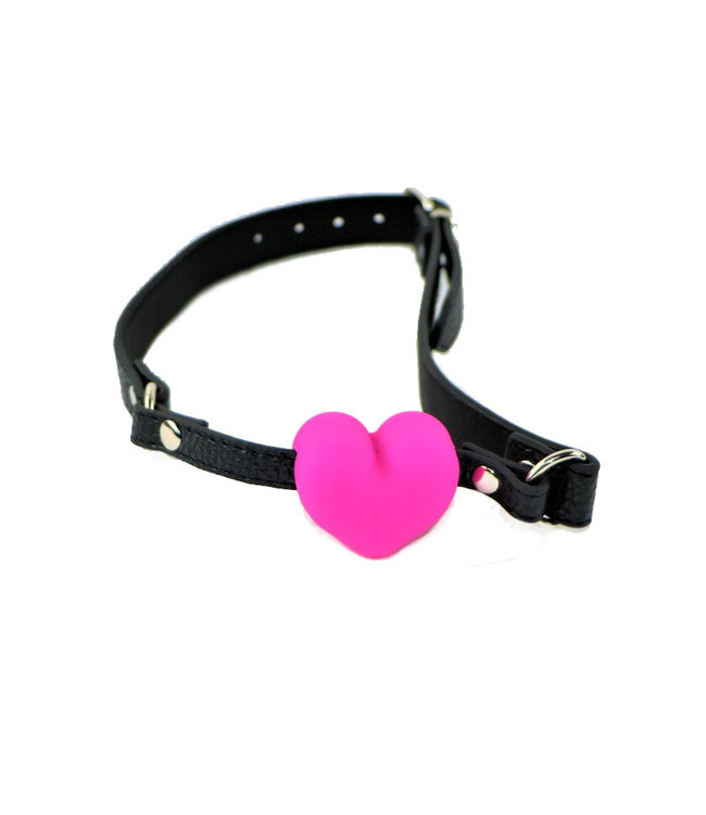 Pink Heart Silicone Mouth Gag