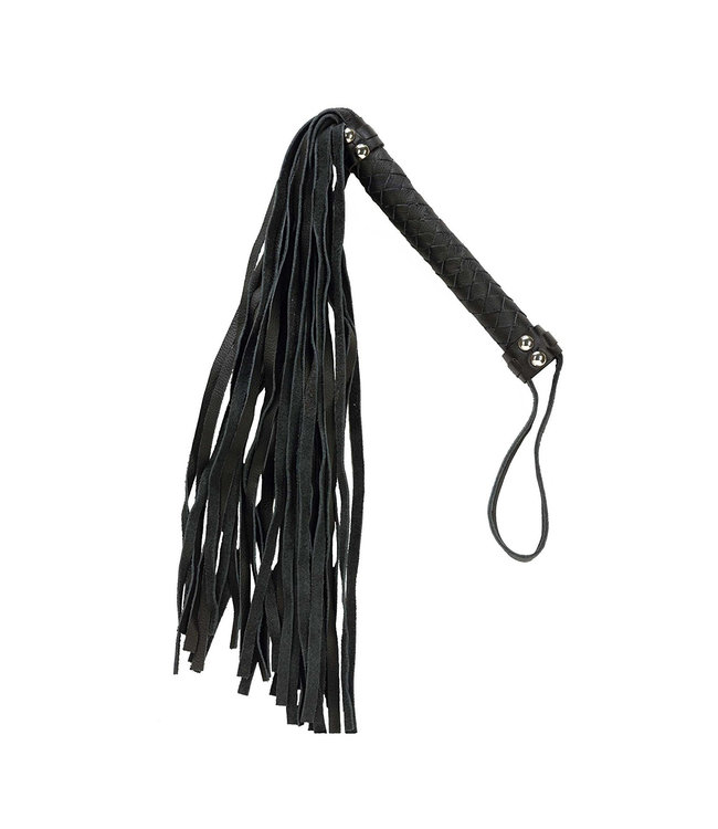 Black 26 Inch Leather Flogger