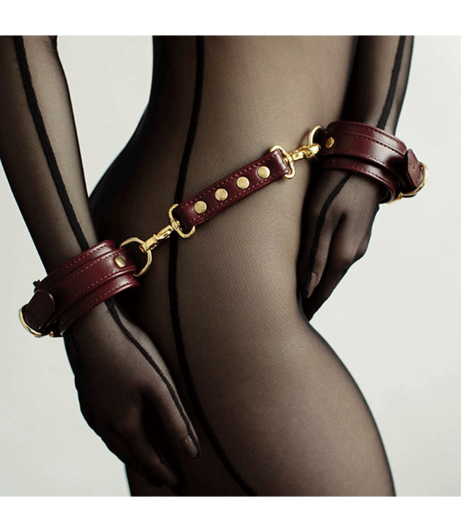 Burgundy Mila Wrist Cuffs
