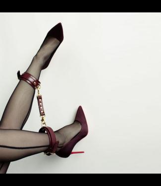 Dominus Burgundy Dita Ankle Cuffs