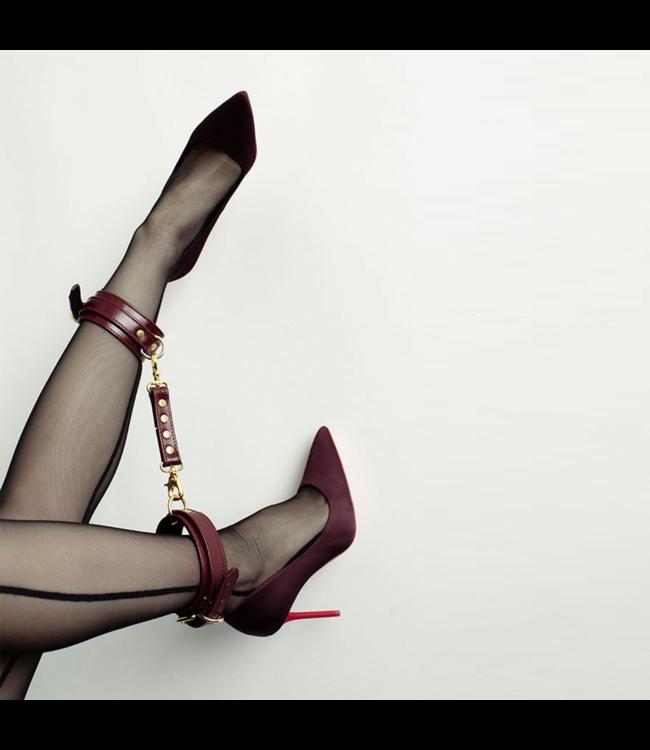 Burgundy Mila Ankle Cuffs