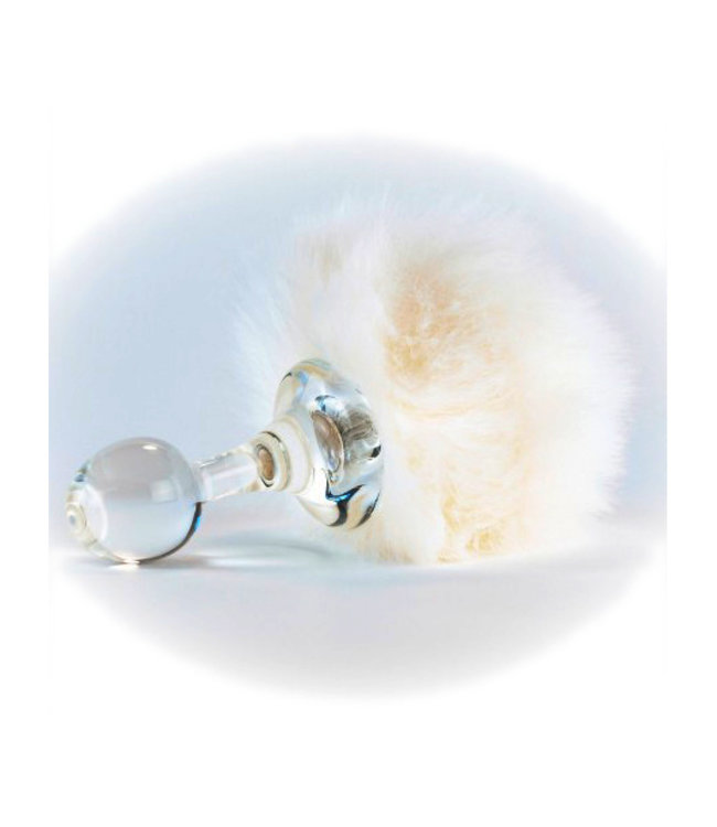 Crystal Delights Faux Bunny White Tail Plug