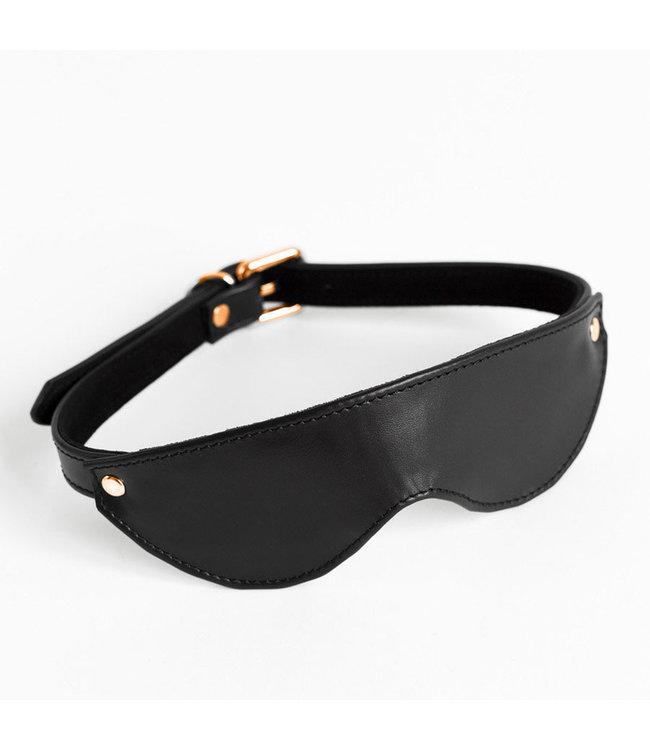 Black Mila Leather Blindfold