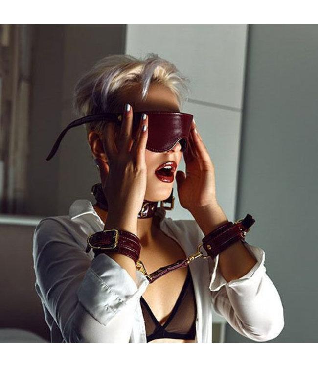 Burgundy Mila Leather Blindfold