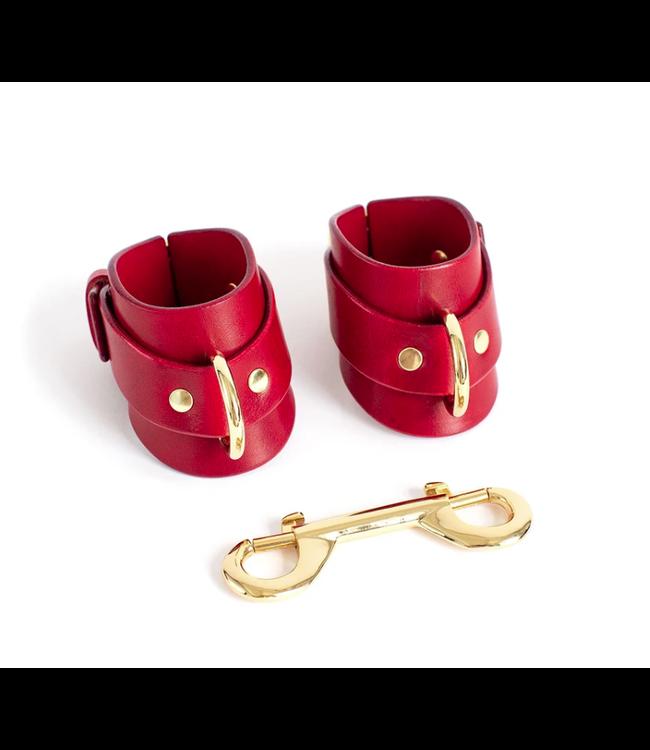 Dominus Red Yelena Wrist Cuffs