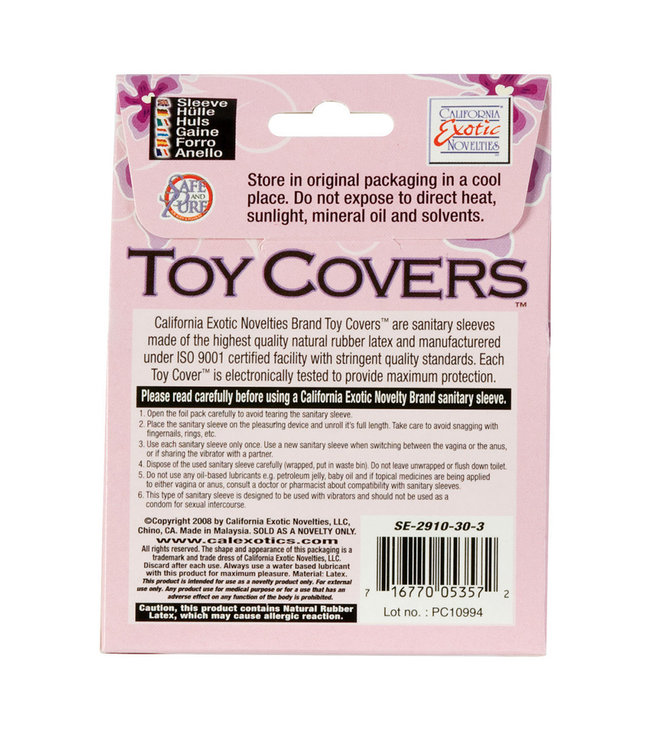 Non-Lubricated Toy Covers (Choose Size)