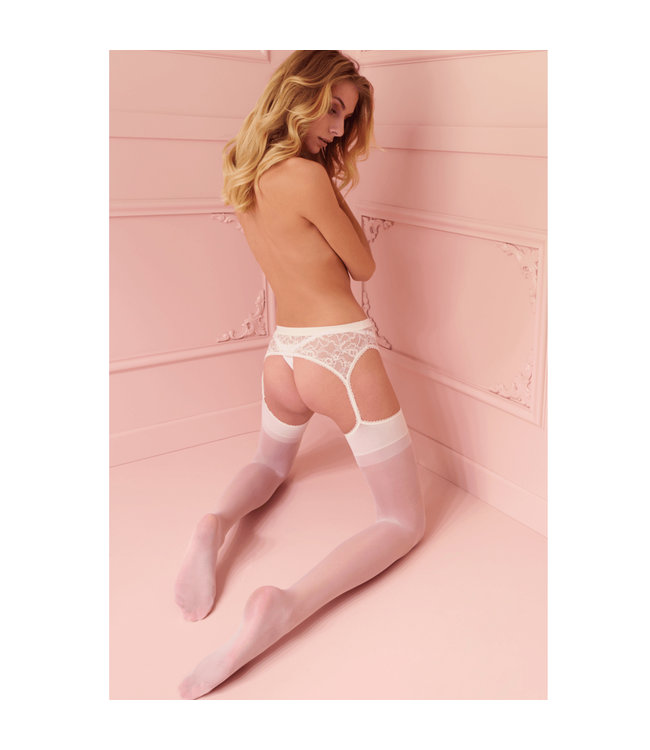 Belle Epoque White Suspender Stockings