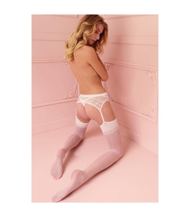 Trasparenze Belle Epoque White Suspender Stockings