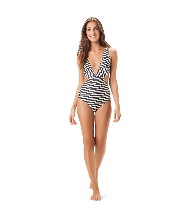 Salinas Black and White Cut Out One Piece