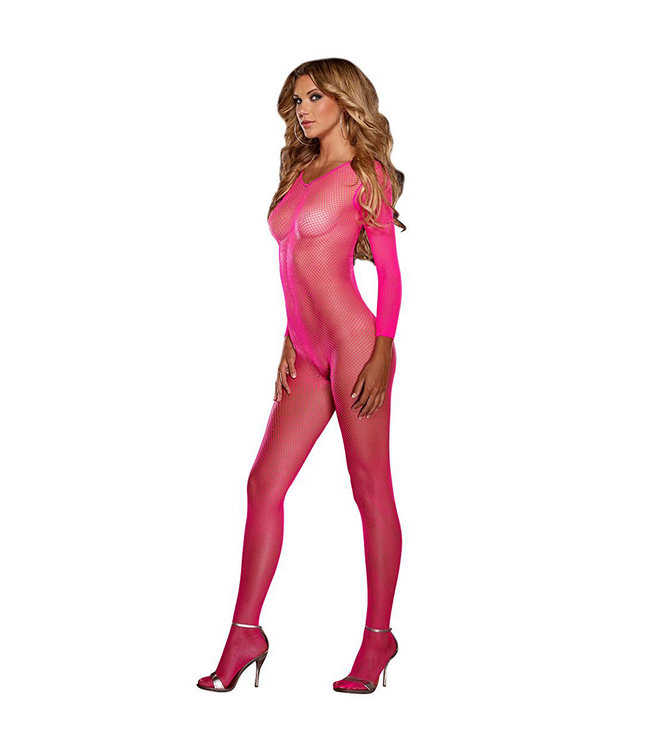 Amsterdam Fishnet Crotchless Pink Bodystocking