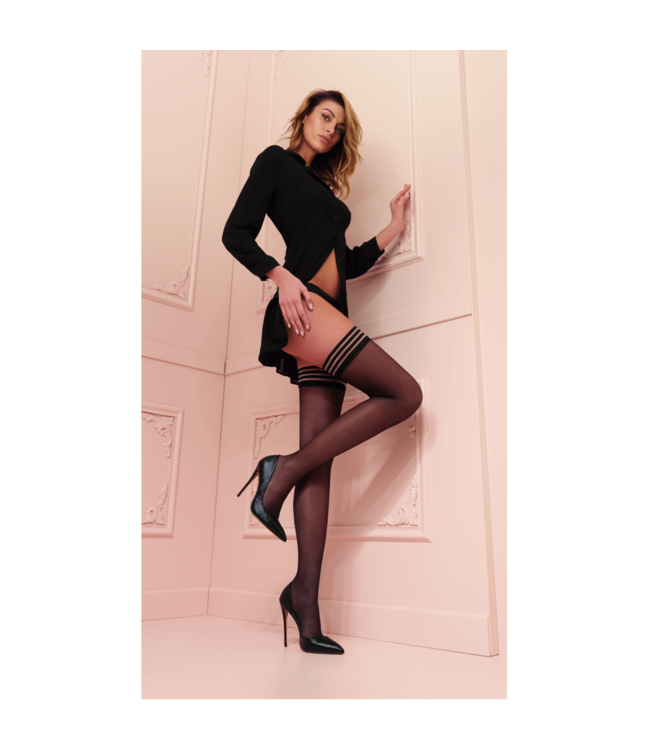 Transparenze Valentina Black Hold Up Stockings