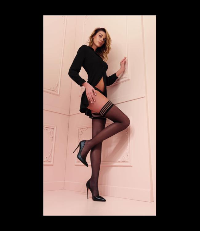 Valentina Black Hold Up Stockings