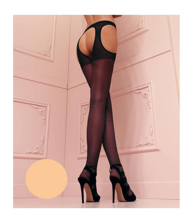 Scandal Flat Seam Garter Stockings Nude
