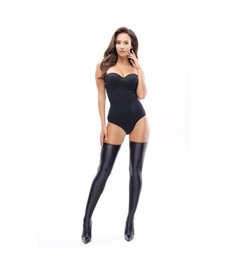 Miss O Glossy Opaque Thigh High Stockings