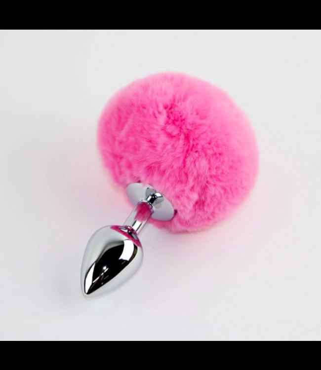 Baby Pink Rabbit Tail Plug