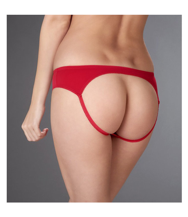 Maison Close Maison Close Petit Secret Rouge Open-Back Panty
