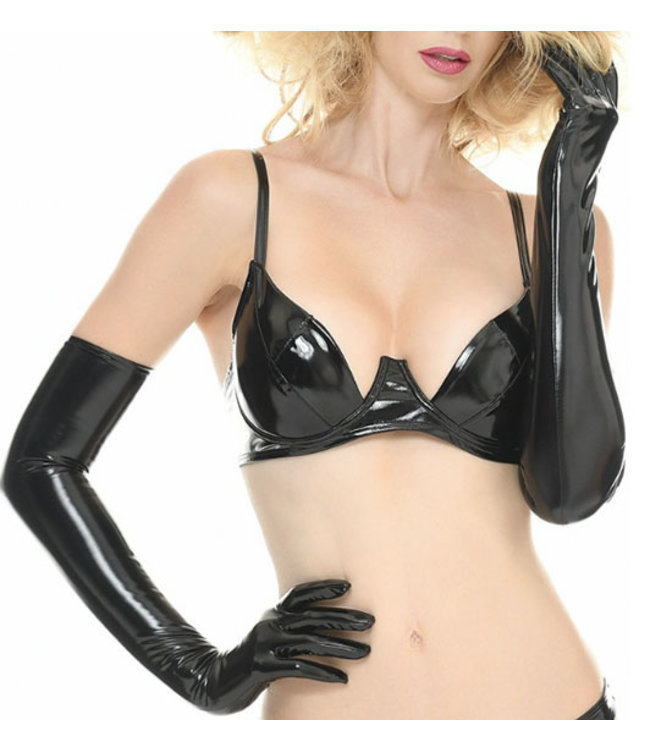 Black Long Vinyl Gloves