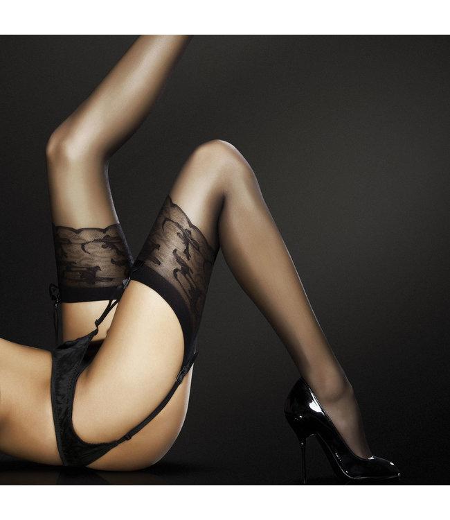 Jordana Sheer Lace Pattern Top Thigh-High