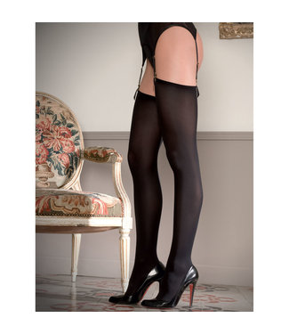 Maison Close Maison Close Cut & Curled Opaque Thigh High Stockings