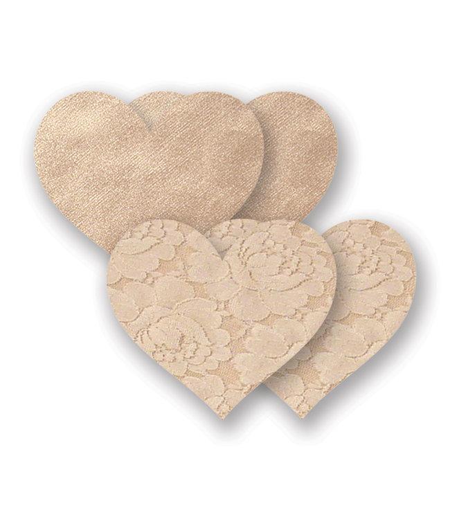 Nippies Creme or Caramel Heart Nipple Covers