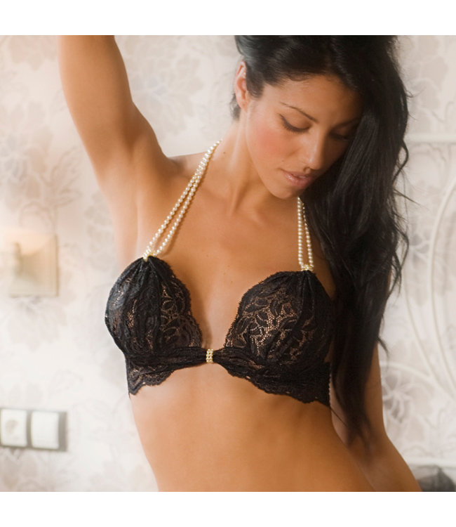 Bracli Bracli Paris Begos Pearl Bra in Black