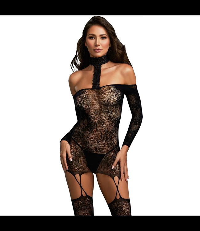 Rosalyn Versatile Lace Garter Dress Bodystocking