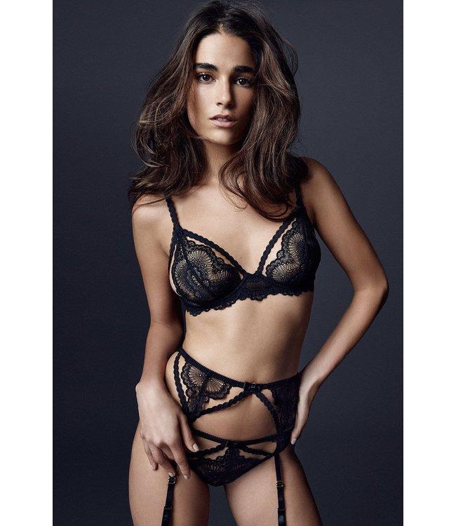 Noir Natalia Suspender Belt